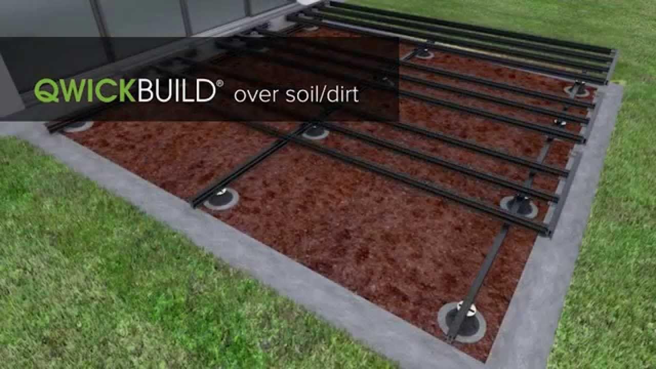 Qwickbuild Deck Over Soil Dirt Building A