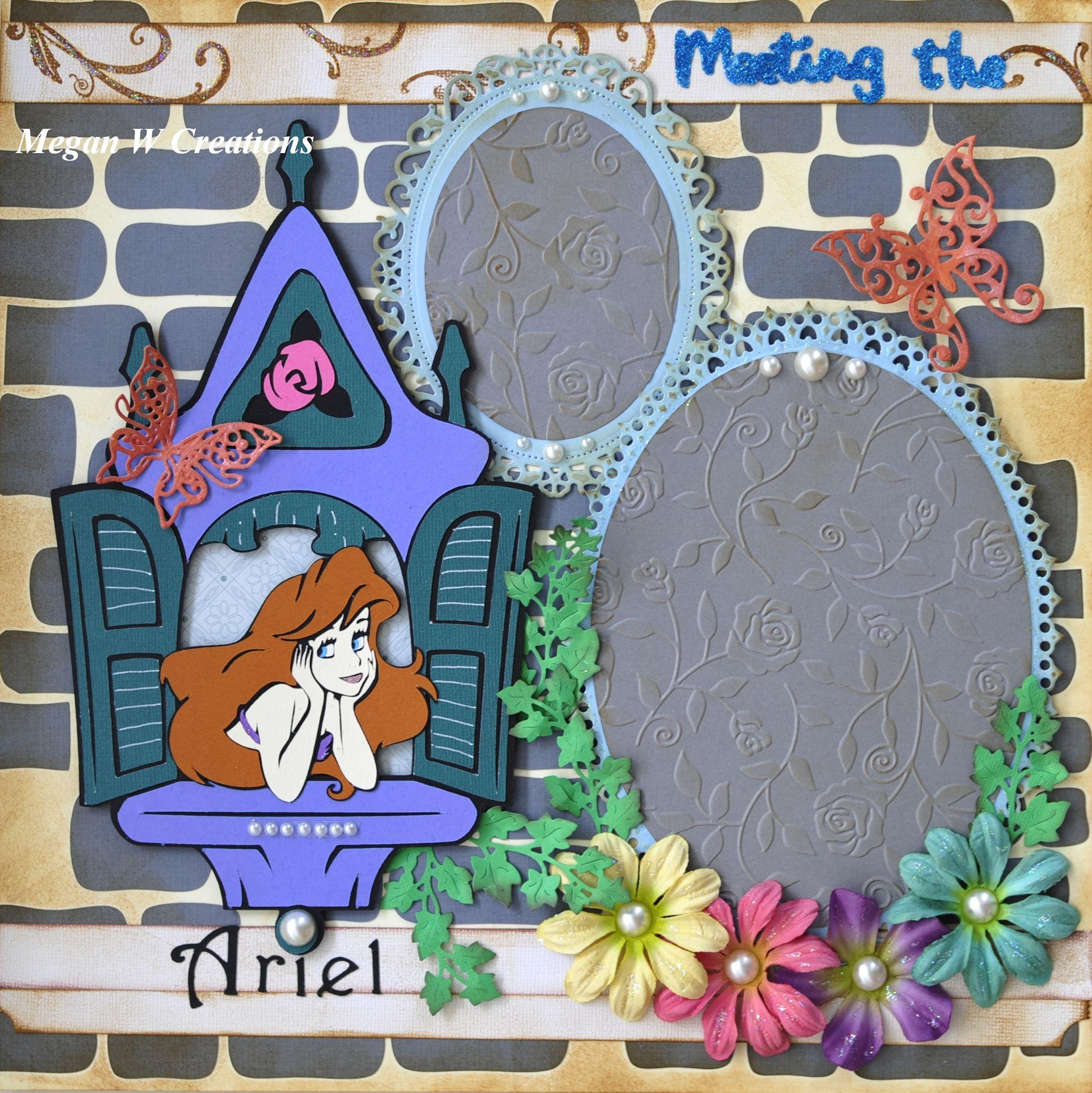 Jungle scrapbook ideas - Disney Princess Ariel In Little Mermaid Scrapbook Layout