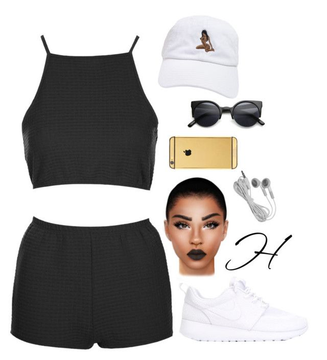 """Untitled #218"" by hoydxn ❤ liked on Polyvore featuring Topshop, NIKE, Retrò and Goldgenie"