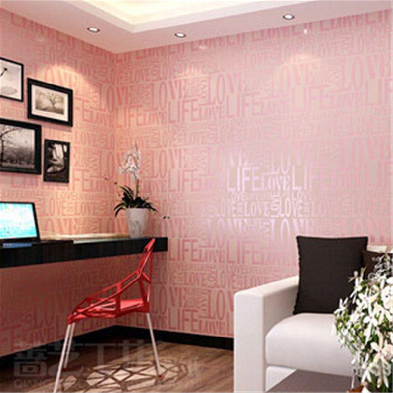 Beibehang Korean Modern Fashion Love 3d Wallpaper Home Decor