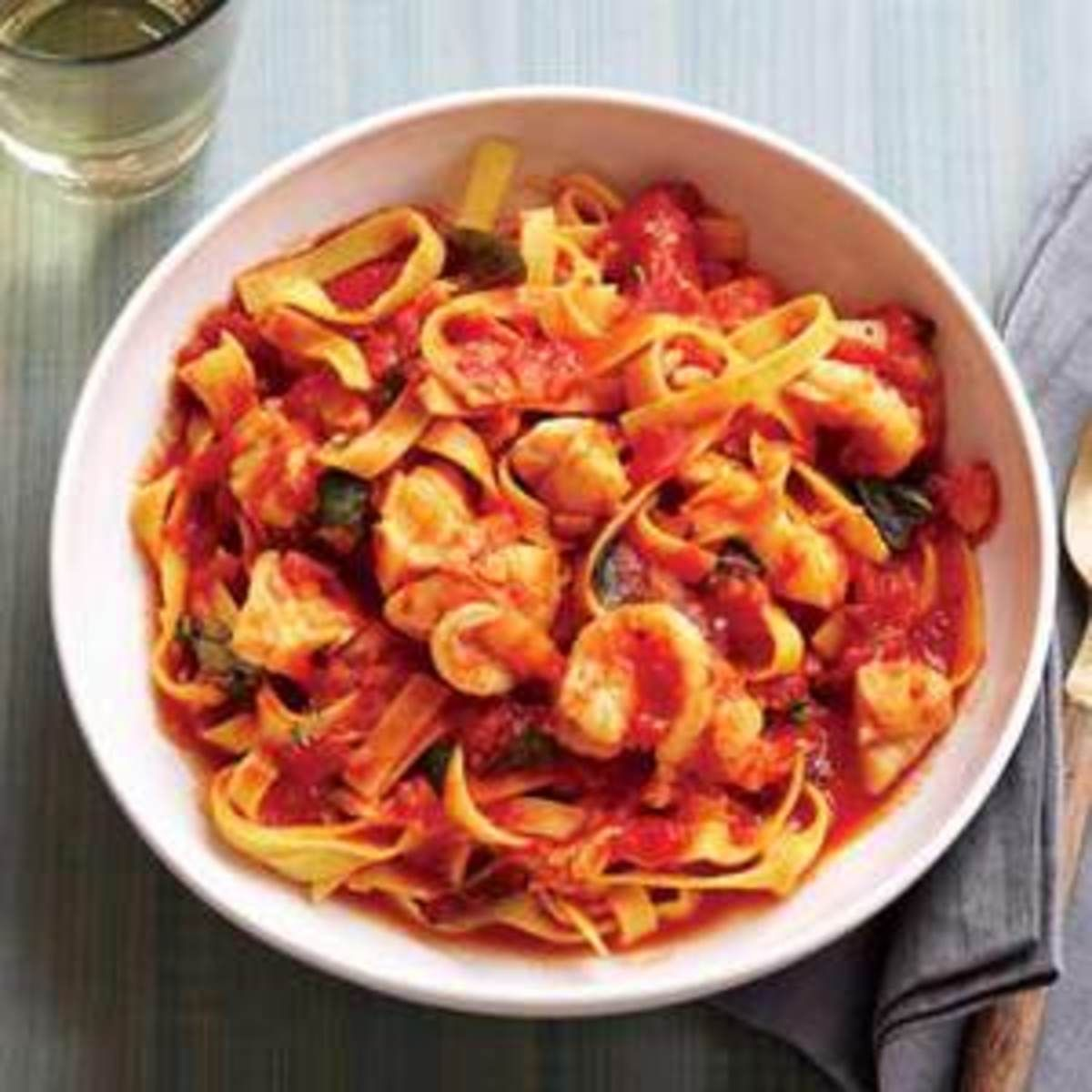 Saffron Infused Fra Diavolo Sauce And Tagliatelle Recipe Tagliatelle Recipe Recipes Tagliatelle