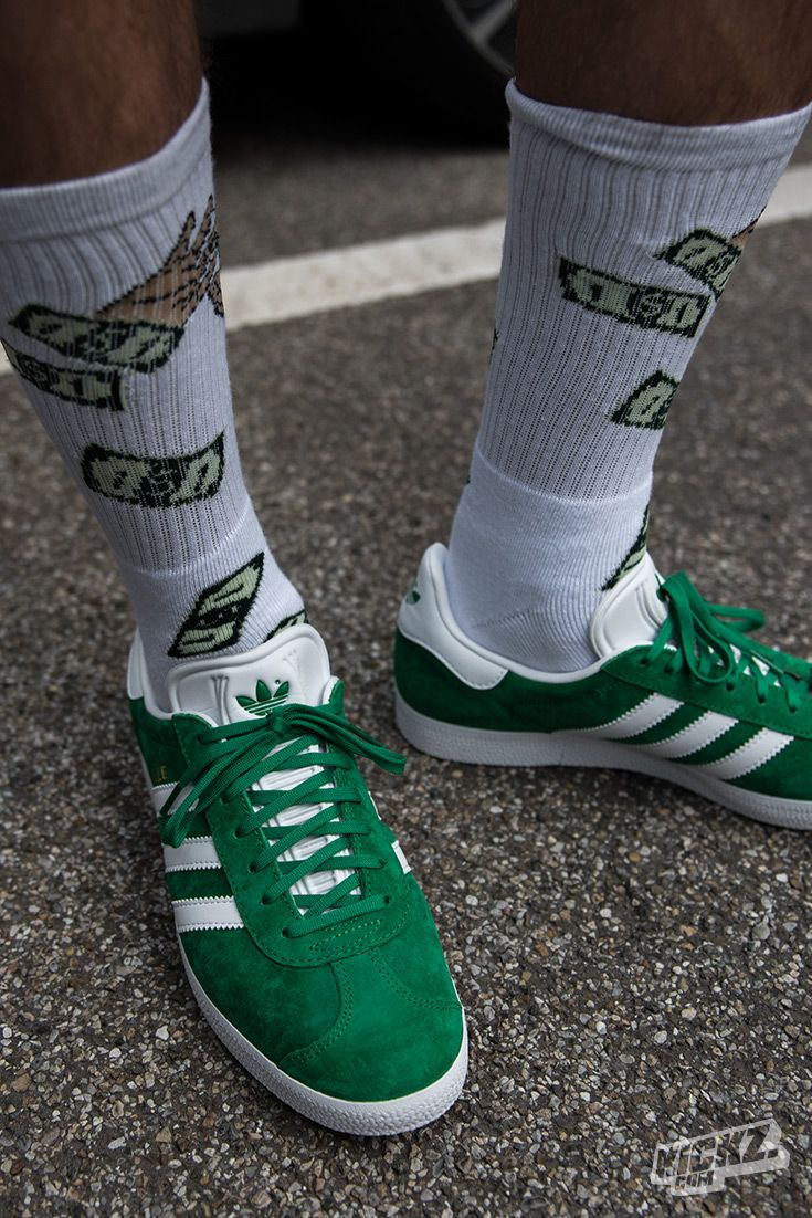 c417258e71654 The Gazelle is back! Adidas Originals bring back the legendary sneaker from  1968. Works great with the 40s and Shorties socks.