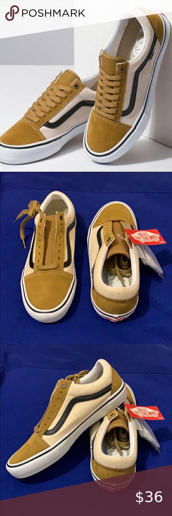vans old skool pro cumin/black shoes in
