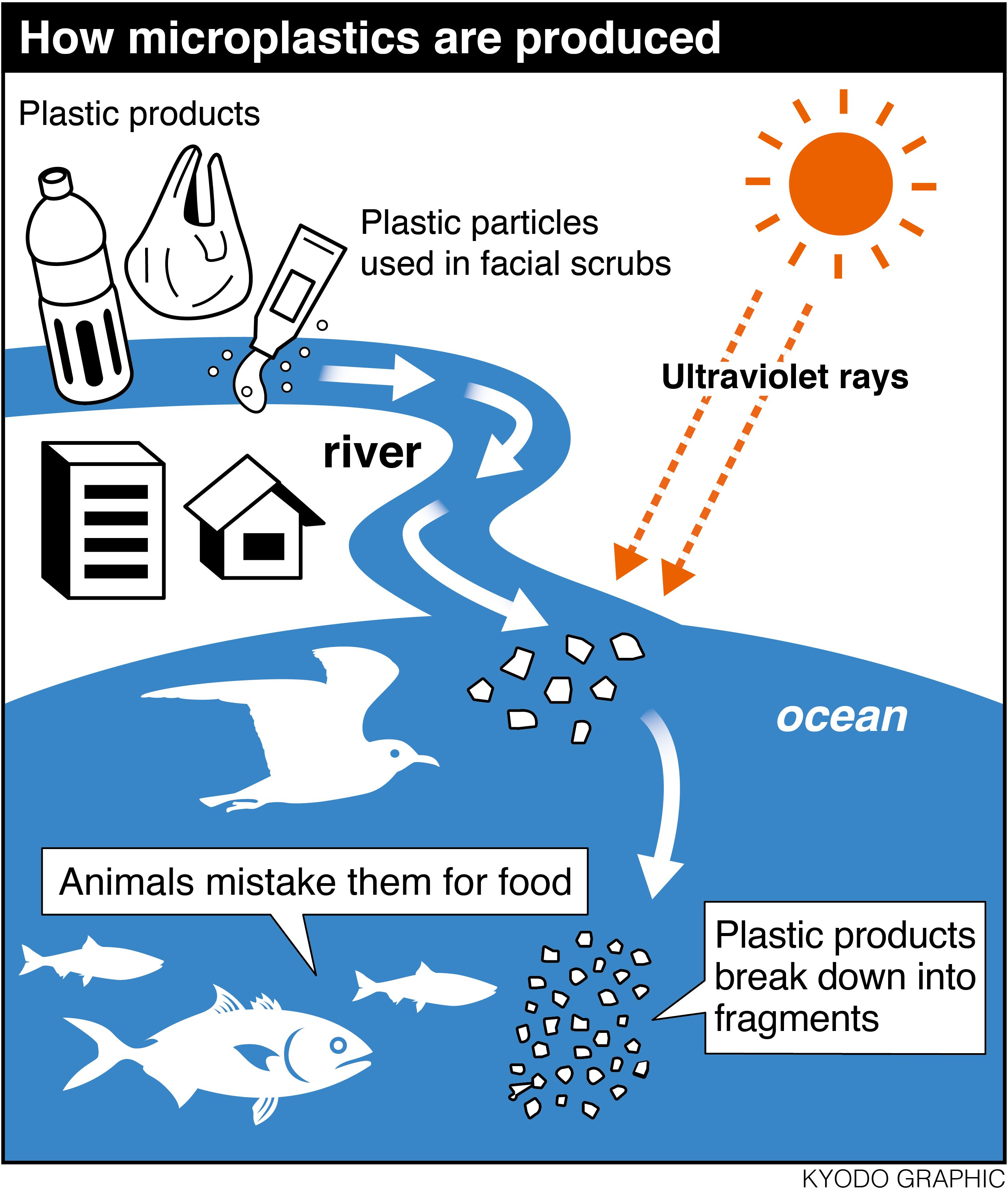 Plastic is part of the fabric of everyday life, from bags to bottles to synthetic clothing. In 2014, global production amounted to 311 million tons, up fro