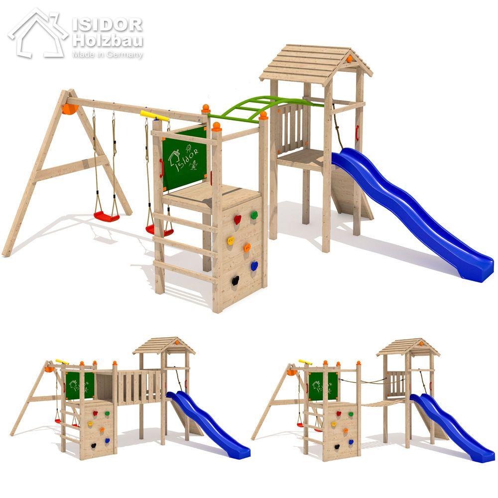 isidor bali loo spielturm spielhaus kletterturm rutsche schaukel stelzenhaus spielt rme. Black Bedroom Furniture Sets. Home Design Ideas