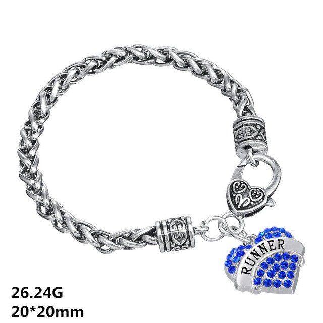 RUNNER's Unisex Crystal  Heart Bracelet