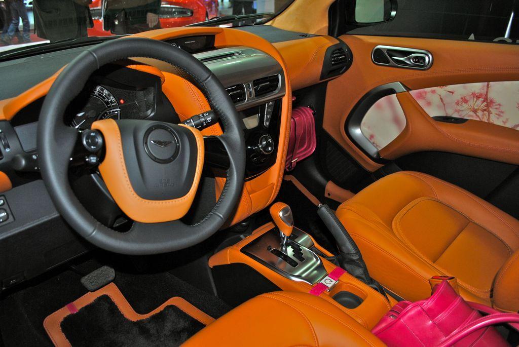 Aston Martin Cygnet Interior Orange And Black Interior Seats Dash - Aston martin cygnet