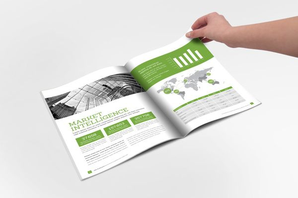 Annual Report Clean Indesign Brochure On Behance  Sportika