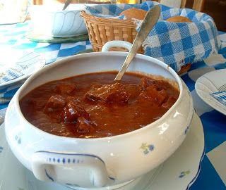 A Feast for the Eyes: Austrian Goulash & Semel Knoedel (Bread dumplings)