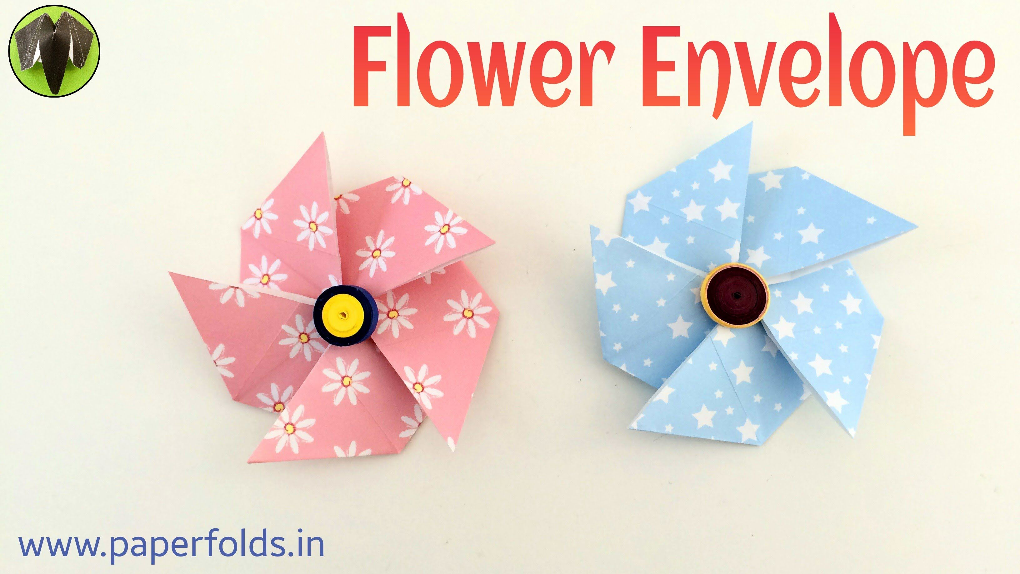 Flower Envelope Diy Origami Tutorial By Paper Folds 680