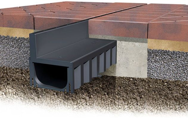 caniveau fente lat rale hexdrain brickslot aco id es terrasse pinterest drainage. Black Bedroom Furniture Sets. Home Design Ideas