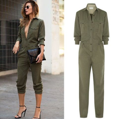 18c6fb0a2a Military Style Jumpsuit