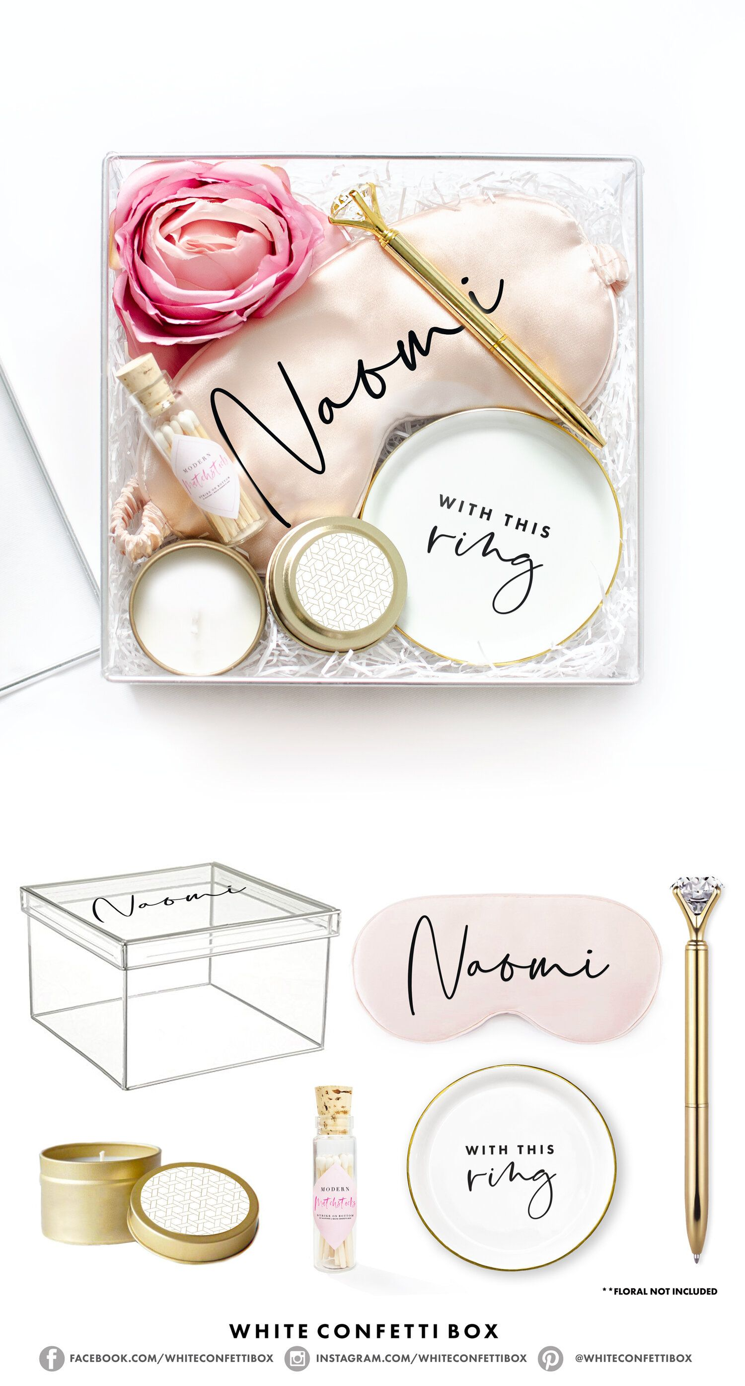 Clear bride to be gift box in 2020 engagement gift boxes