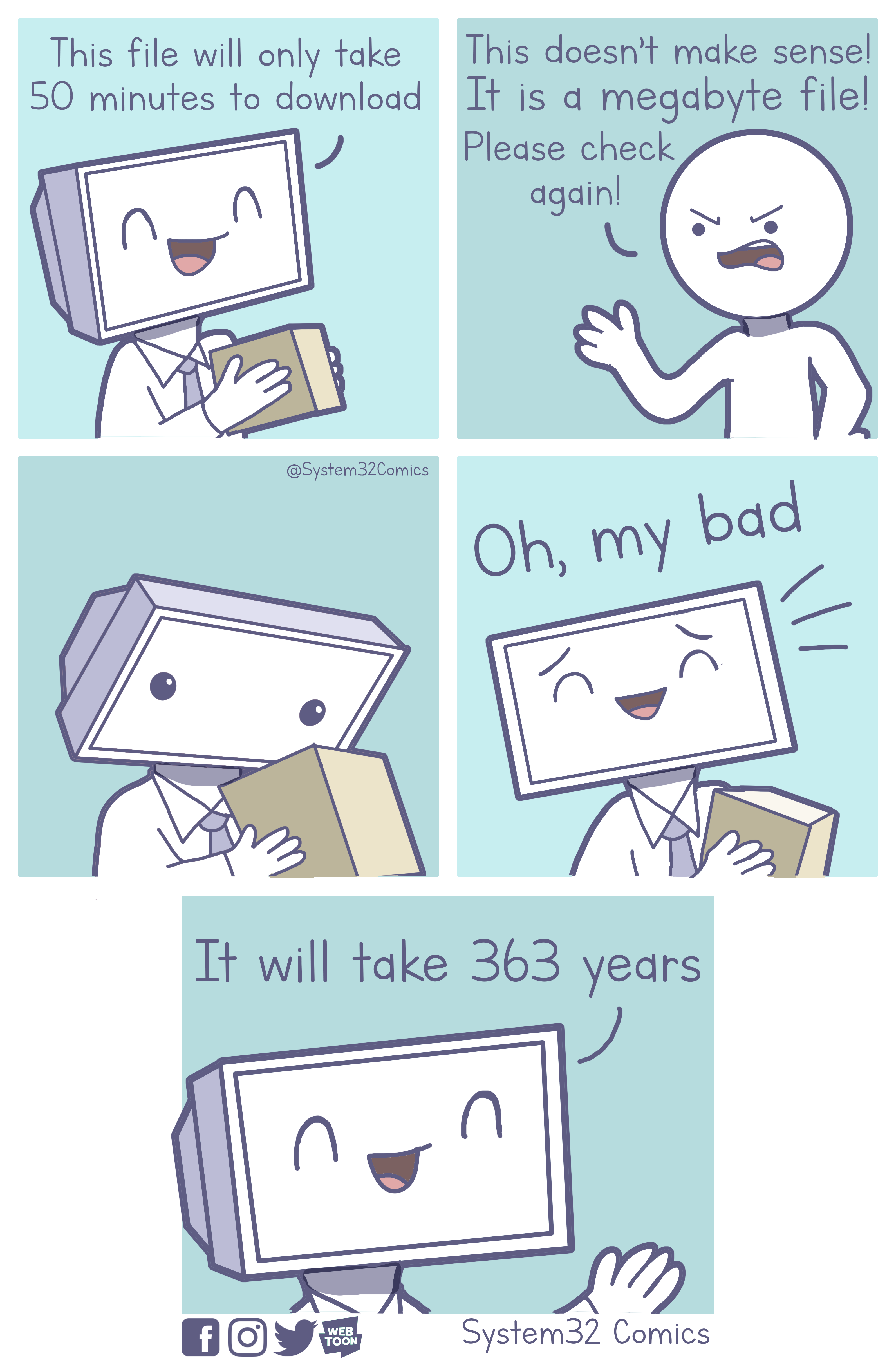 When My Computer Downloads a File [OC] Funny illustration