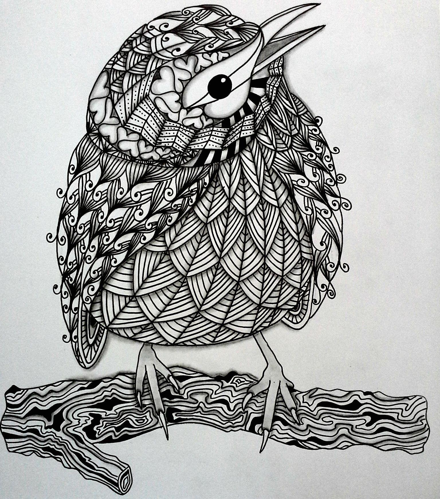 bird zentangle Zen art, Zentangle drawings, Tangle art