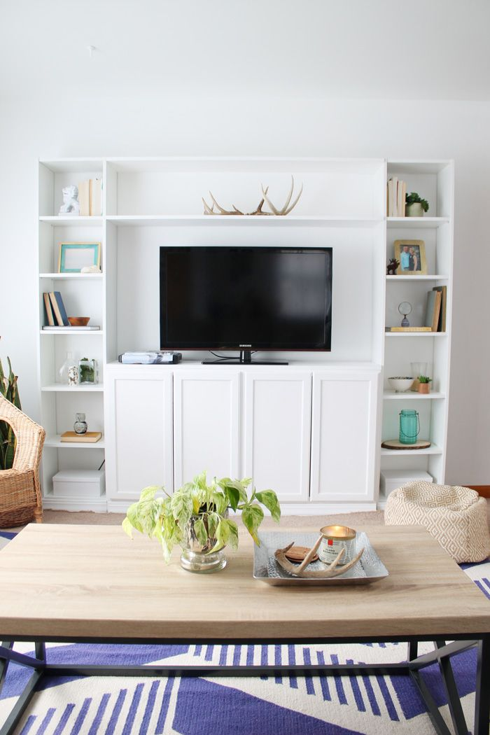 Simple DIY IKEA Hack BuiltIn Tutorial Ikea built in