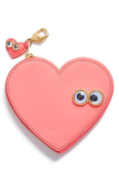 Sophie Hulme 'Stanley Flo' Heart Shaped Leather Coin Purse Bag Charm