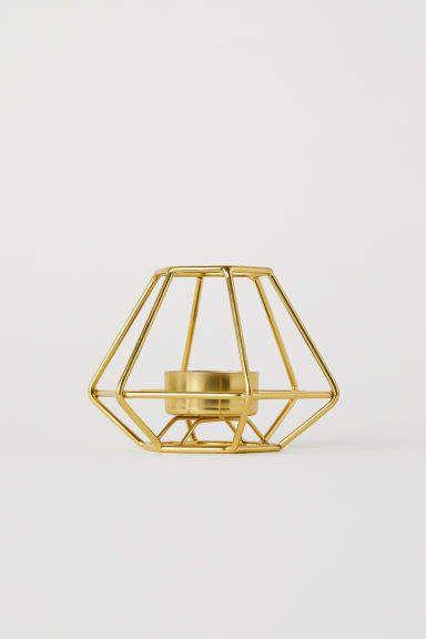 0406b79481 H&M Metal Tea Light Holder - Gold. H&M Metal Tea Light Holder - Gold Geometric  Wedding, Geometric Decor, Candle Lanterns,
