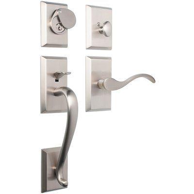 Rockwell Security Premium Savoy Single Cylinder Entrance Handleset Front Door Hardware Exterior Door Hardware Front Door Handles