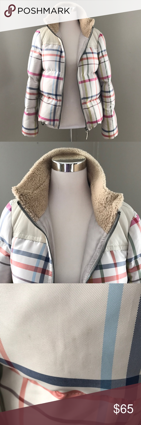 Coach Down Puffer Jacket With Leather Trim Sz S Puffer Jackets Jackets Leather Trims [ 1740 x 580 Pixel ]