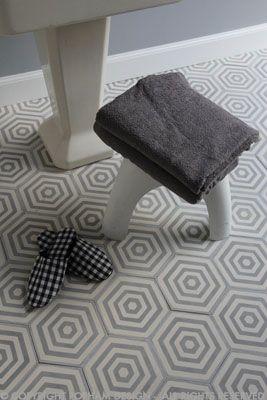 Popham Tiles Hex Target In Colour Way Dove Milk Carrelages