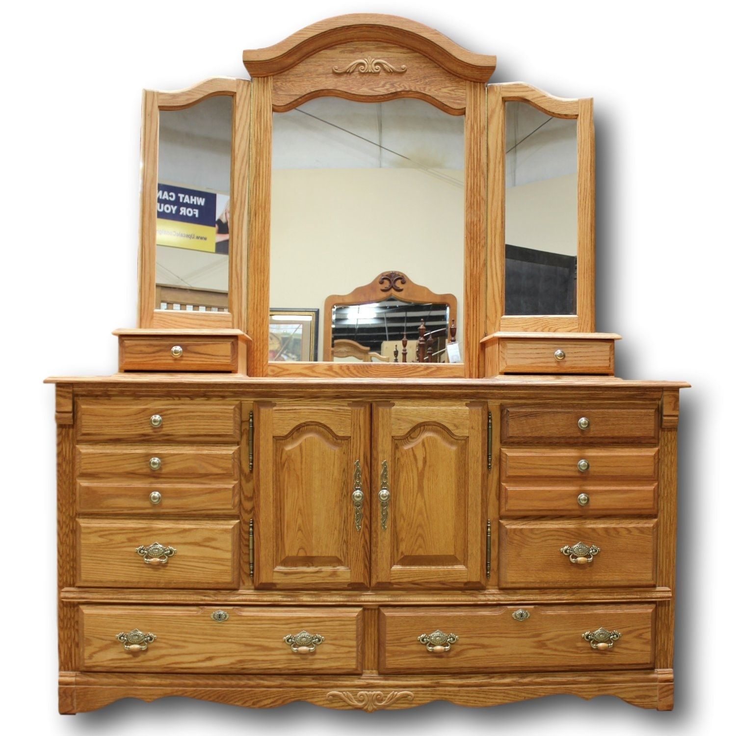 Oak Dresser With Mirror Bestdressers 2019