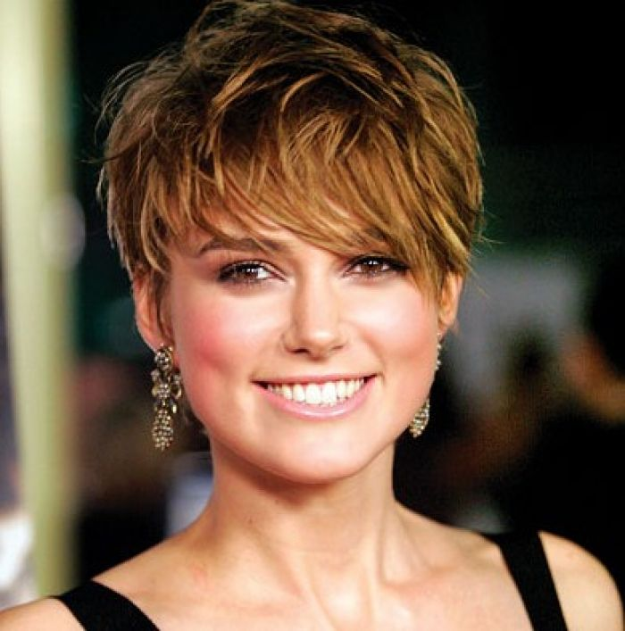 Keira Knightley Beautiful Celebrity With Pixie Haircut