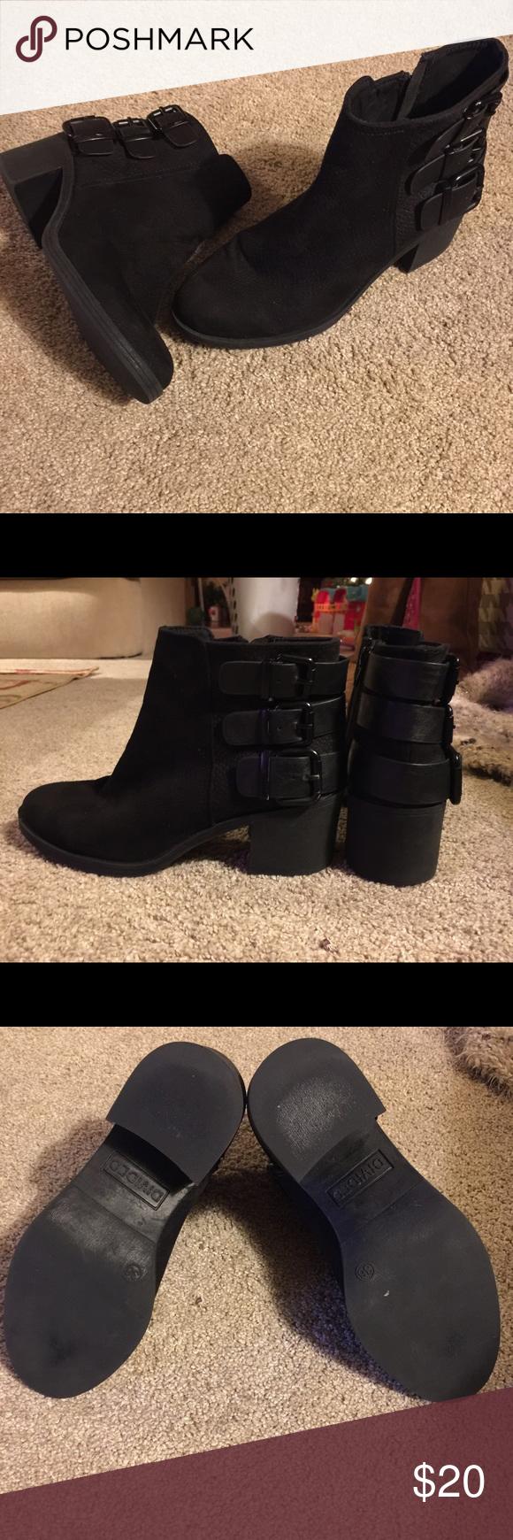 H\u0026M DIVIDED Black Ankle Boots   Black