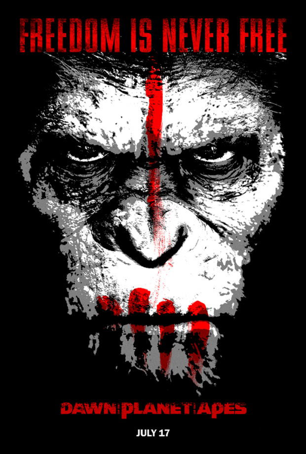 Http Archives Of The Apes Blogspot Co Uk Planet Of The Apes Dawn Of The Planet Movie Poster Art