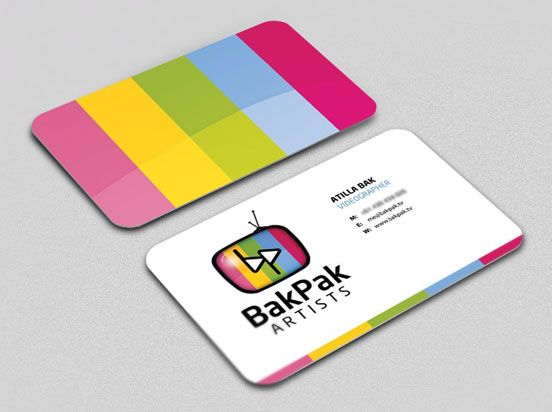 Bakpak Artists Business Cards Business Cards Artist Business Cards Printing Business Cards Business Card Design