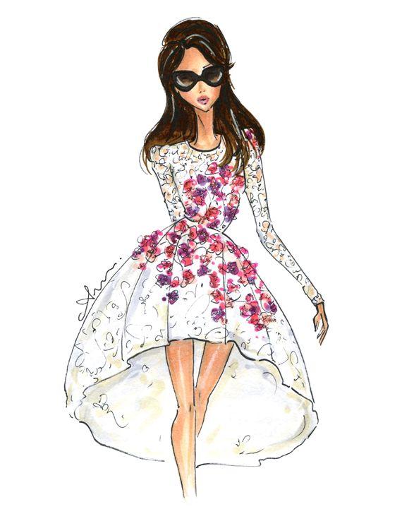 muñecas | bocetos de vestidos de novia