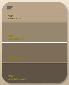 We Picked Harvest Brown By Behr The Top Colour As