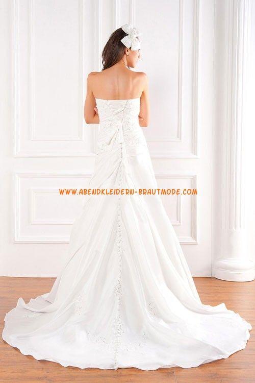 A-linie Glamouröse Dramatische Brautkleider aus Taft mit Applikation ...