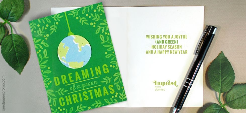 Find out what seed paper cards have to offer get message how seed paper business holiday cards can promote your brand and helpful message suggestions for customizing the inside greeting reheart Gallery