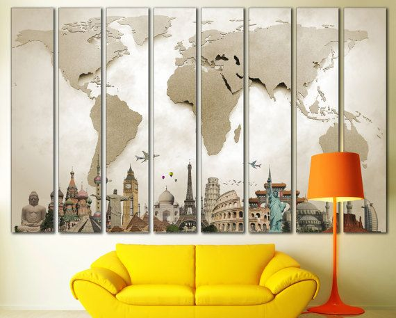 World map canvas print extra large 8 panelwall art by zellartco world map canvas print extra large 8 panelwall art by zellartco gumiabroncs Images