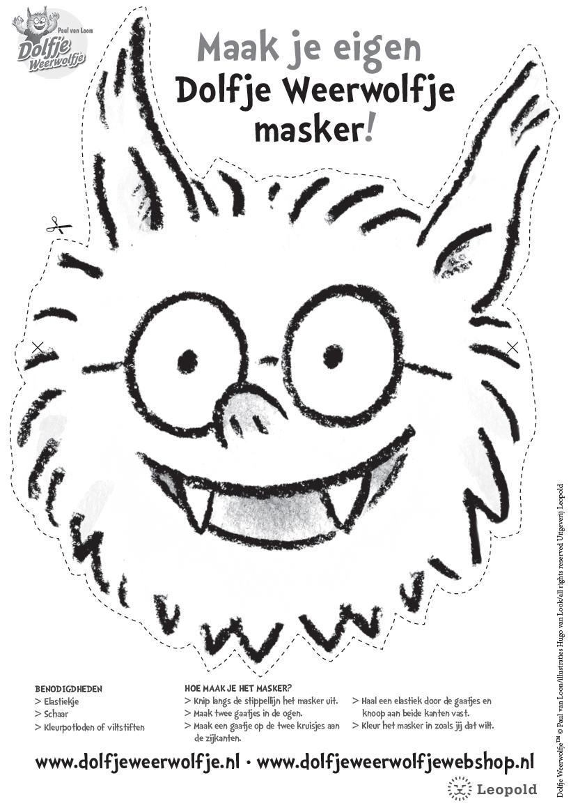 masker dolfje weerwolfje | Knutselen | Pinterest | Sint maarten and ...