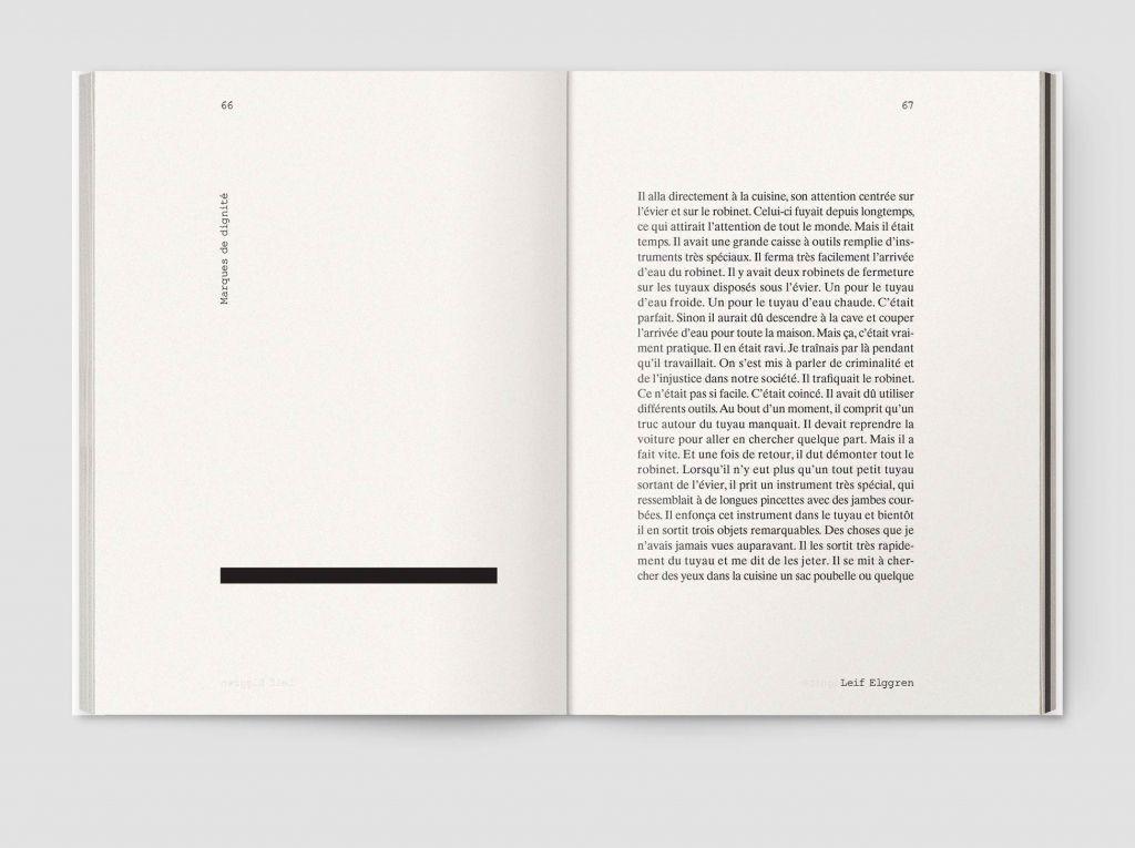 Un Peu Comme Voir Dans La Nuit Editorial Design Layouts Portfolio Design Layouts Buch Design
