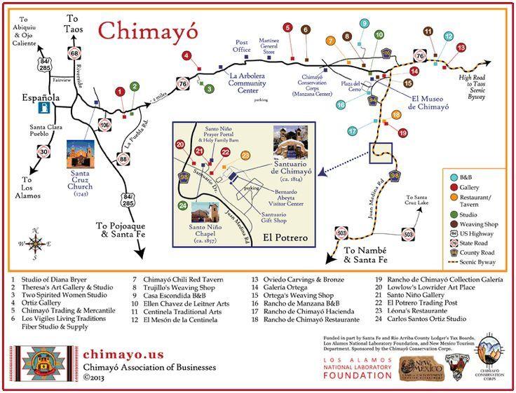 Chimayo Map Travel New Mexico