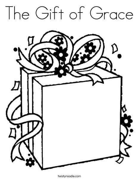 The Gift Of Grace Coloring Page Twisty Noodle Christmas