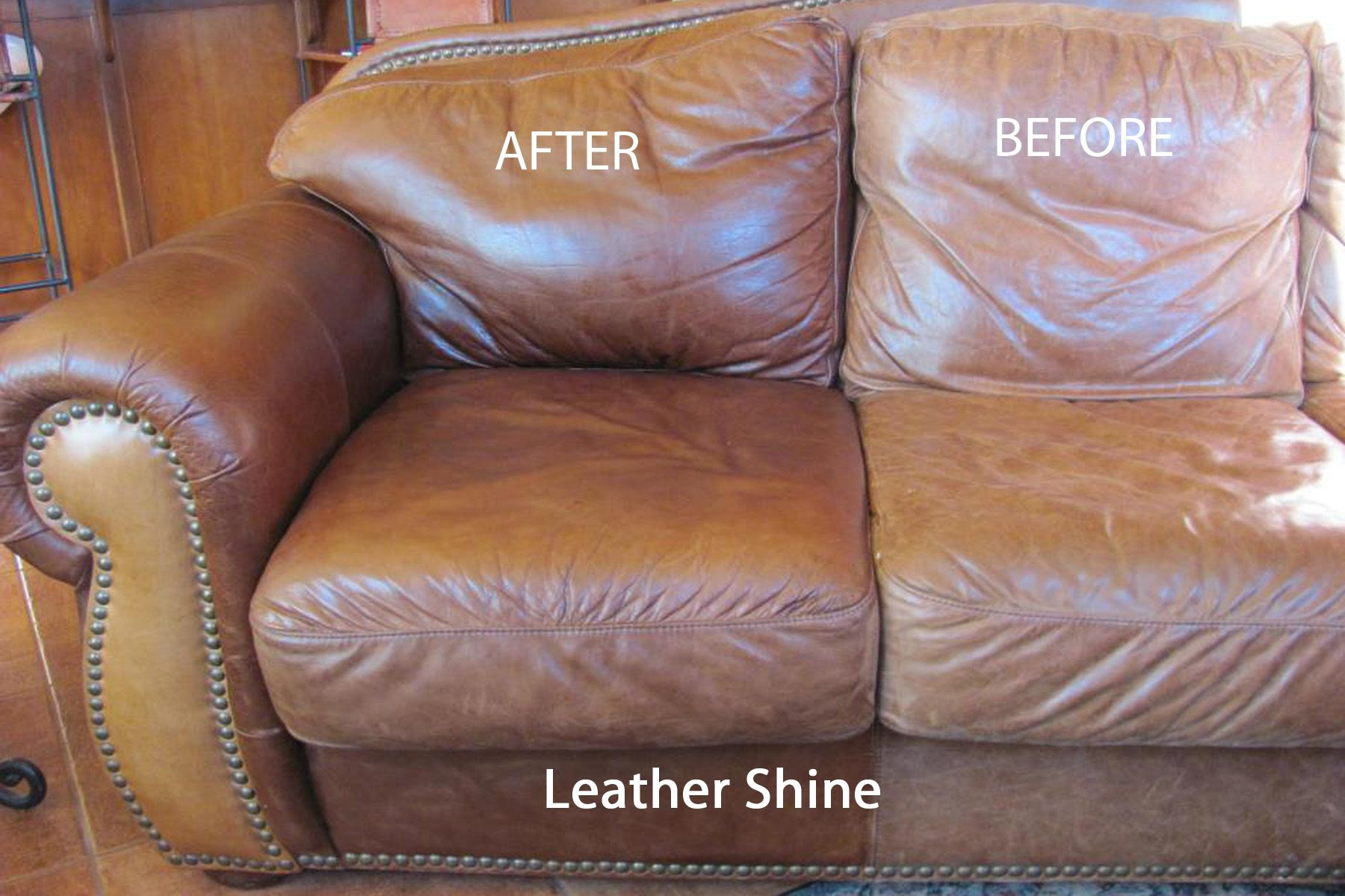 clean leather sofa with damp cloth red faux bed norwex shine should try this although my enviro worked great alone on couch