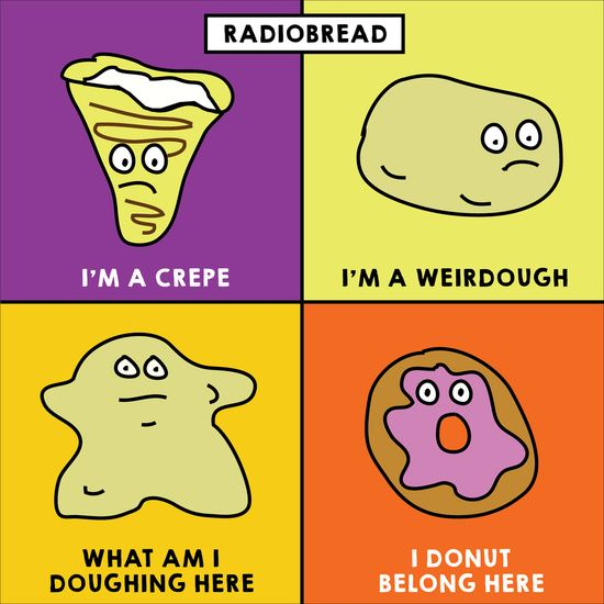 Everyone hates carbs, lately. They are just so sad | Radiobread | High Carb Radiohead Illustration. Humor Art Print | Funny Puns | Humor | Carbs