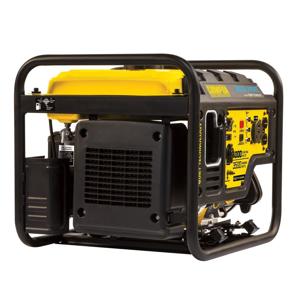 Champion Power Equipment Dh Series 4000 Watt Gasoline Powered Recoil Start Open Frame Inverter Generator With 224 Cc Engine 100302 Portable Generator Inverter Generator Open Frame