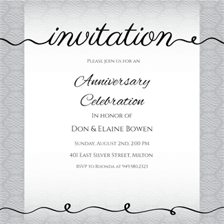 Infinity Cursive Anniversary Invitation Template Free Greetings Island Party Invite Template Dinner Invitation Template Event Invitation Templates