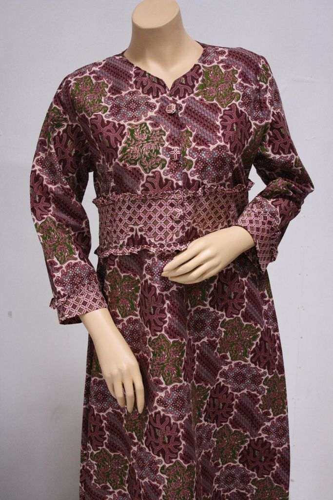Contoh Model Baju Batik Wanita Terkini Style In 2019 Batik Dress