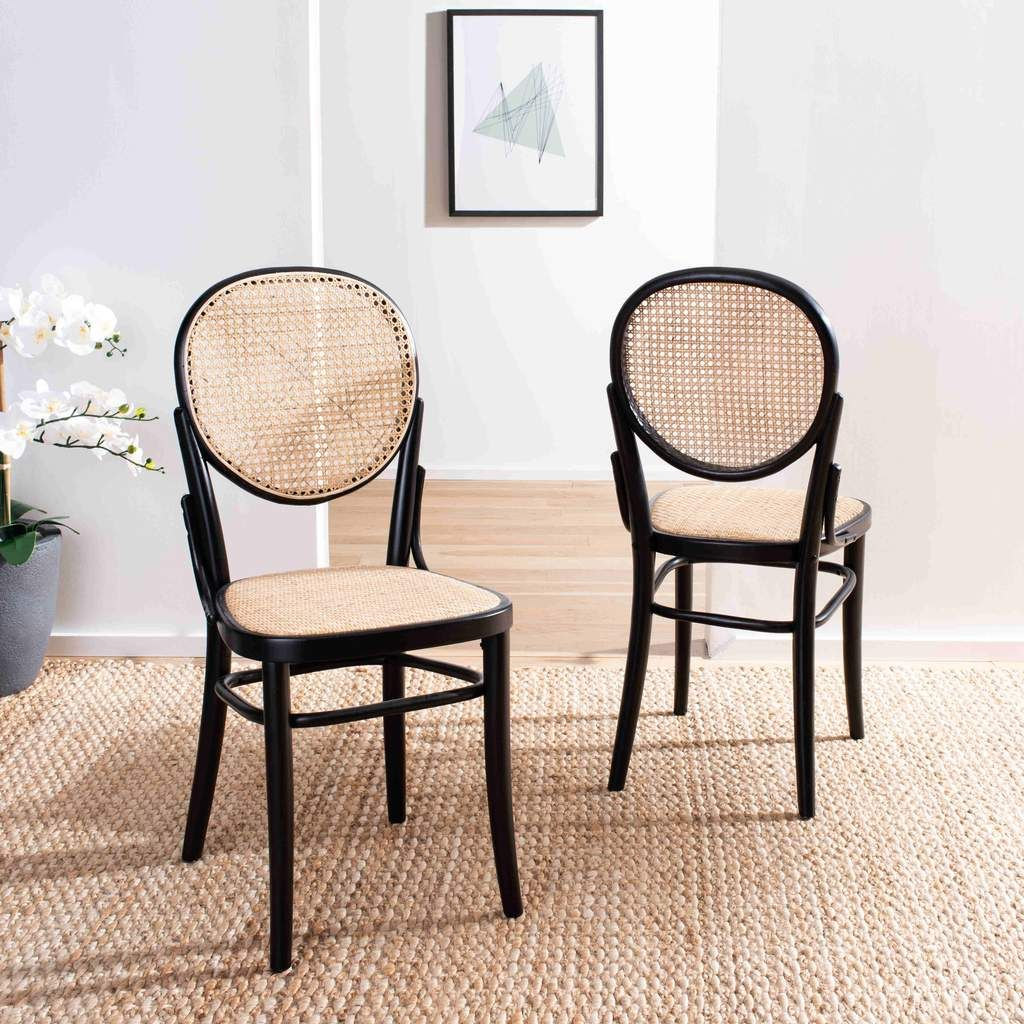 Sonia Cane Dining Chair Set Of 2 In 2020 Cane Dining Chairs Dining Chairs Solid Wood Dining Chairs
