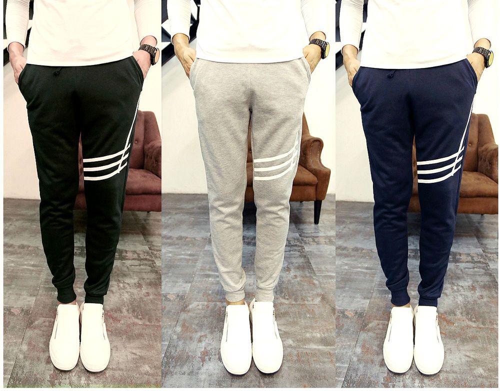 Mens Stylish Joggers Pants Trousers Slim Fit Jogging Tracksuit Bottoms (  X231 )