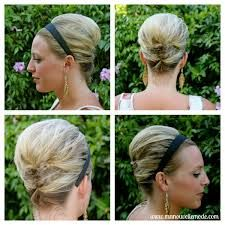 jaw length wedding hair with headband - Google Search
