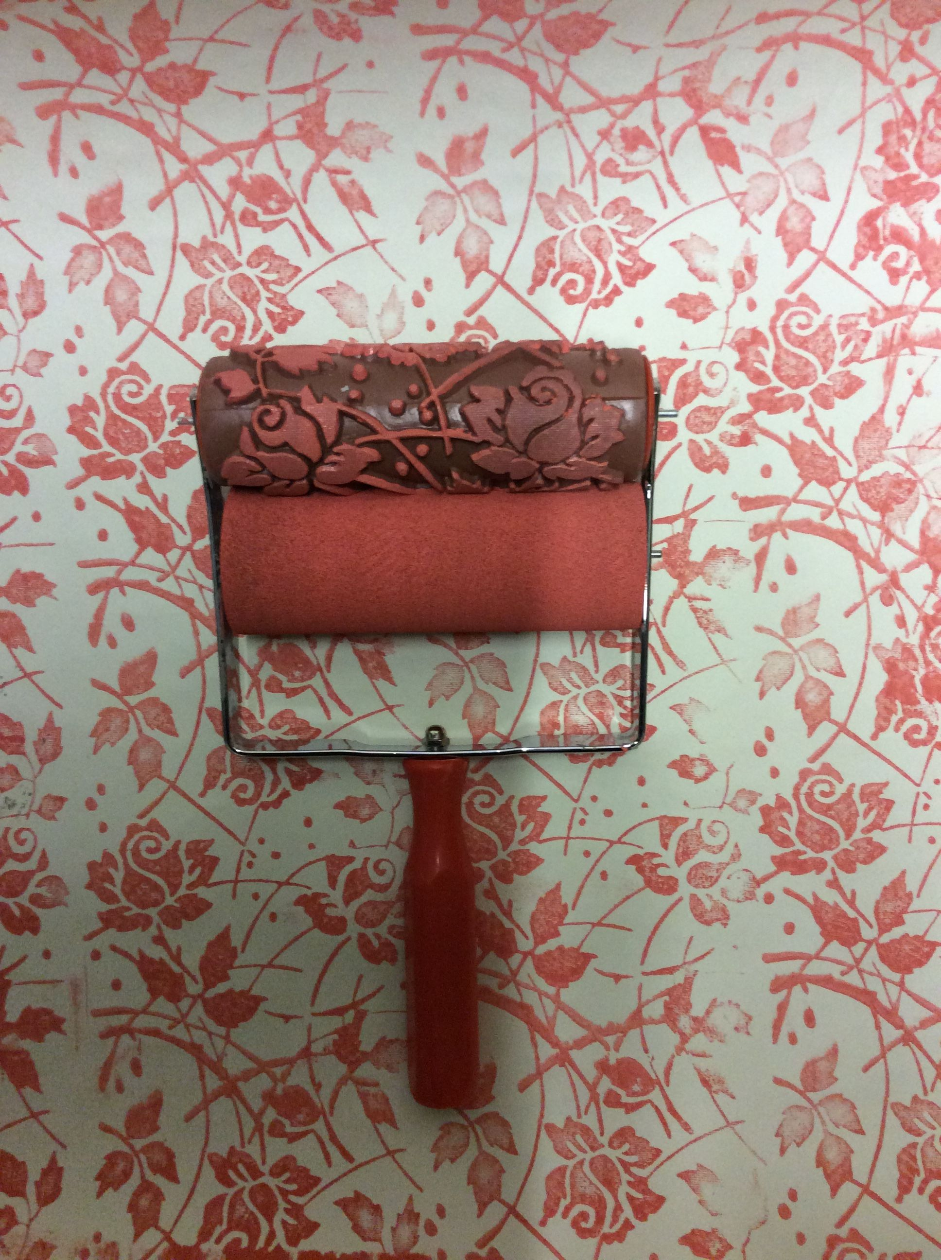 Wild Roses Themed Patterned Paint Roller Will Transform Any Wall