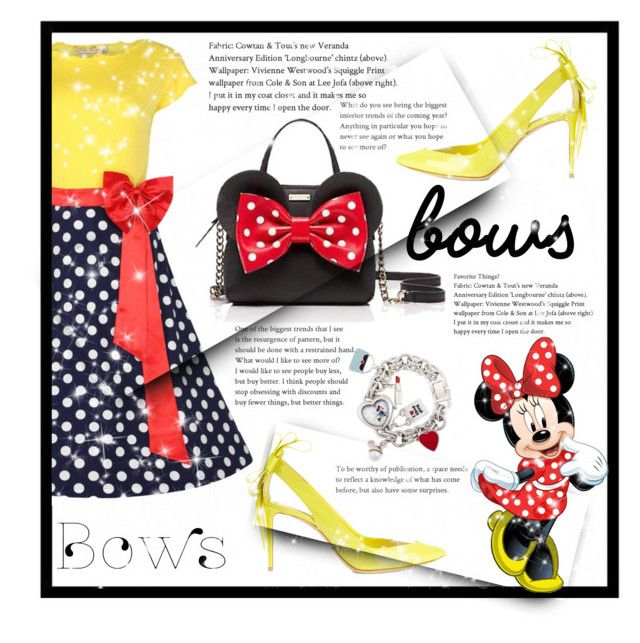 """""""Minnie  style"""" by ghenwahaddad ❤ liked on Polyvore featuring Nicholas Kirkwood, Kate Spade and Disney"""