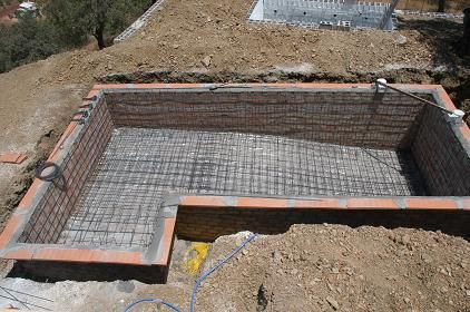 Cinder block inground pools swimming pool concrete - Cinder block swimming pool construction ...